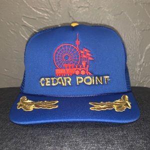 Vintage Cedar Point Mesh Trucker Hat Snapback